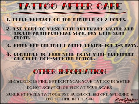 tattoo aftercare warning signs how to take care of your tattoo