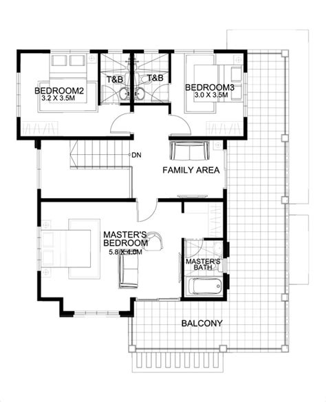 small house plans with second floor balcony marcelino four bedroom two storey mhd 2016021 pinoy