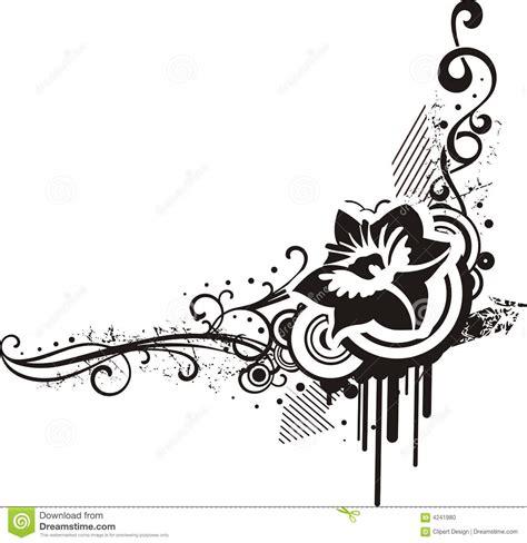 design black and white black white floral designs stock photo image 4241980