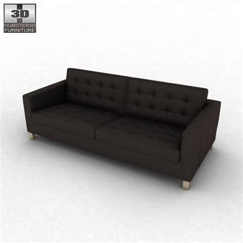 ikea karlstad sofa 3d model humster3d