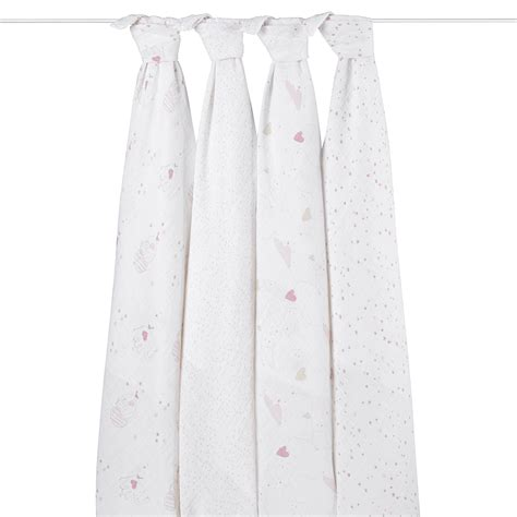 Aden Anais Classic Swaddle 4 Pack Up Up Away classic swaddles 4 pack available at peppyparents