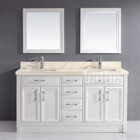 63 inch double sink bathroom vanity studio bathe calais 63 inch white double bathroom vanity