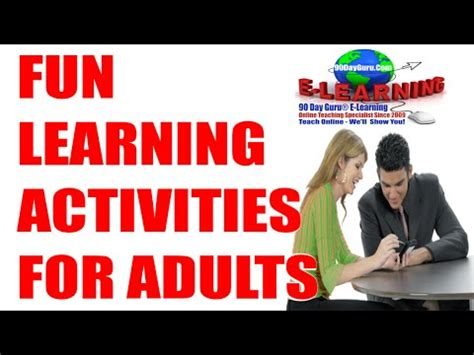 fun learning activities for 1845908929 fun activities fun learning activities for adults youtube