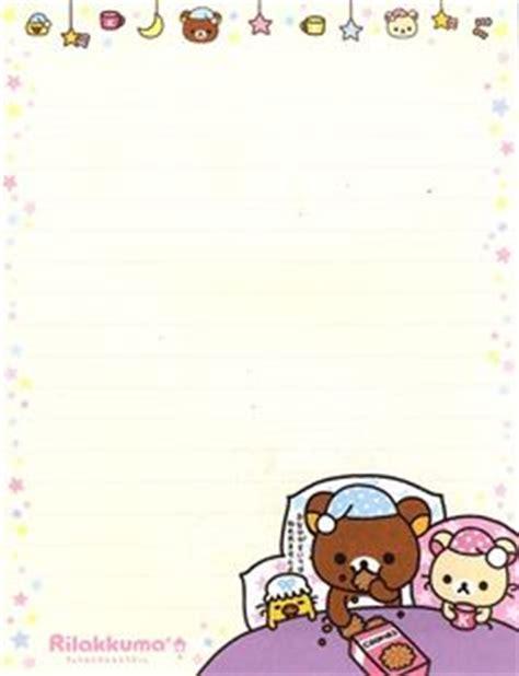 Frame Rillakuma stationary printable paper medium and rilakkuma
