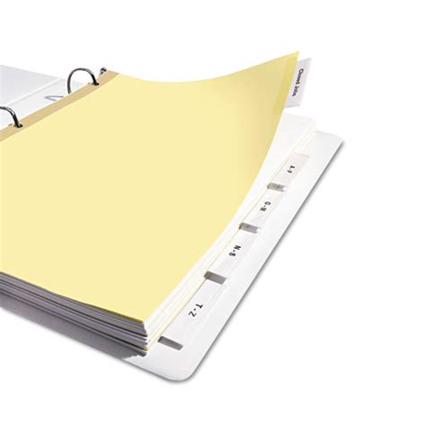 Avery Big Tab 5 Tab Template by Insertable Big Tab Dividers 5 Tab Letter Nuleaf Office