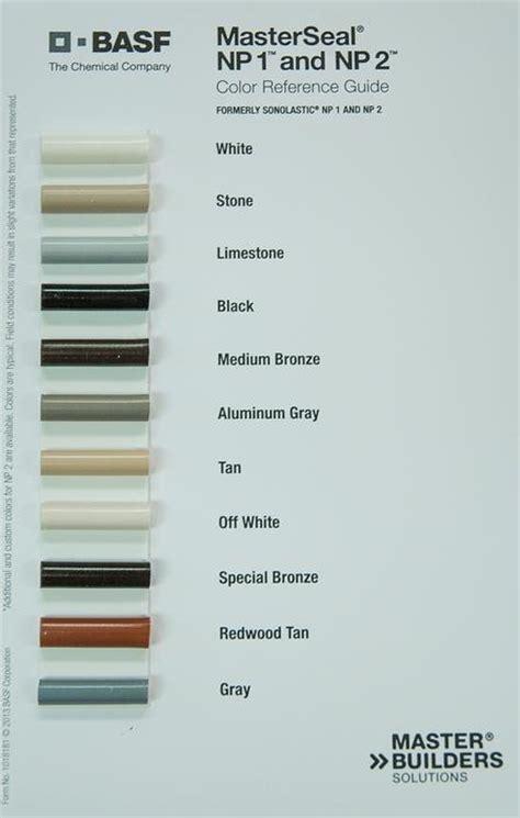 np1 color chart k l caulk np1 limestone non sag