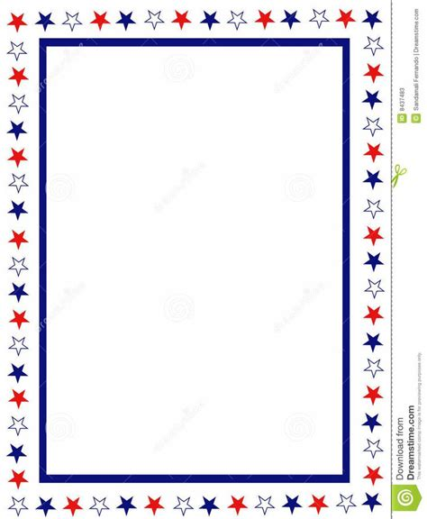 printable star border free patriotic page borders blue and red patriotic stars