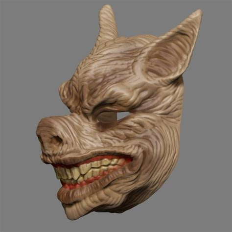 printing templates scary pig head mask