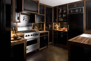 Black Cabinets In Kitchen Farmer Interiors The Black Kitchen