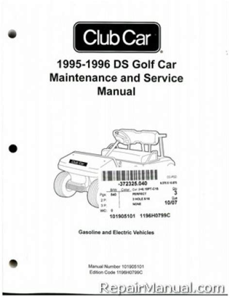 service manual car owners manuals for sale 1995 gmc rally wagon g2500 electronic throttle 1995 1996 club car ds golf car gas electric service manual
