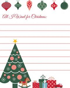 all i want for christmas printable wish list daily dish magazine recipes travel crafts