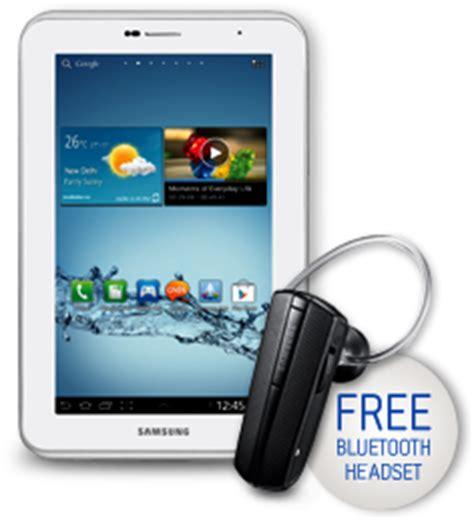 Headset Bluetooth Samsung Tab 2 redeem samsung galaxy tab 2 310 promo free bluetooth headset savemoneyindia