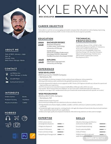 resume templates word psd indesign apple