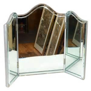Tri Fold Vanity Mirror Vintage Vintage Regency Tri Fold Vanity Mirror At 1stdibs