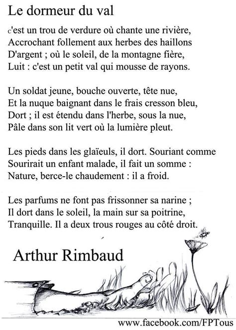 Le Dormeur by Rimbaud Le Dormeur Du Val Poetry