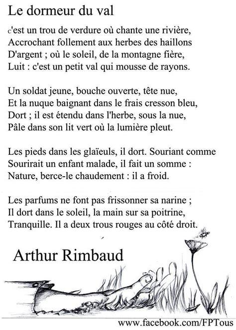 Le Dormeur Du Val De Rimbaud rimbaud le dormeur du val fran 231 ais po 232 mes