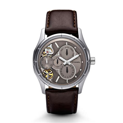Fossil Twist fossil mechanical twist leather brown me1020 fossil 174