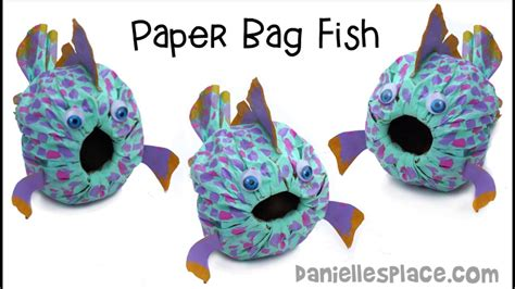 Paper Lunch Bag Crafts - paper lunch bag fish
