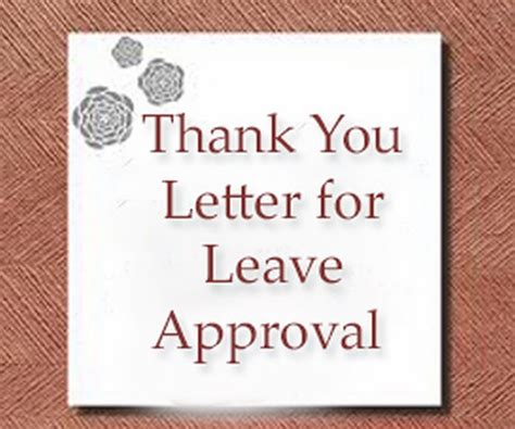 thank you letter to for leave approval thank you letter to for leave approval 28 images