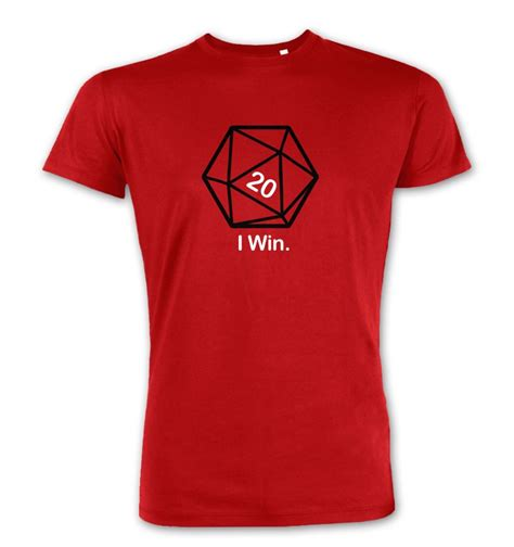I Won A Shirt by D20 I Win Premium T Shirt Somethinggeeky