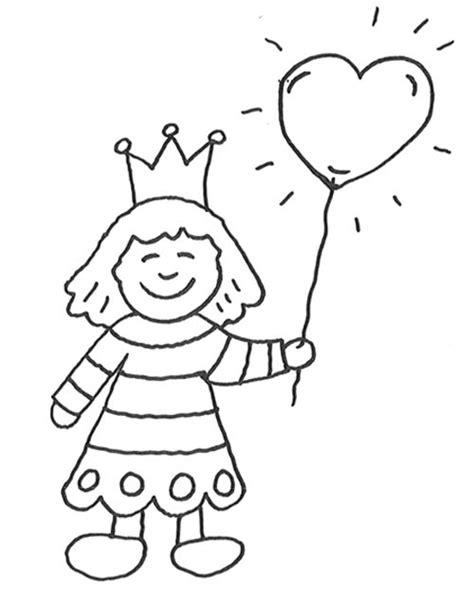 Coloriage Princesse Petite Fille