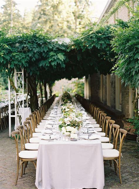 elegant garden wedding reception real weddings oncewed com