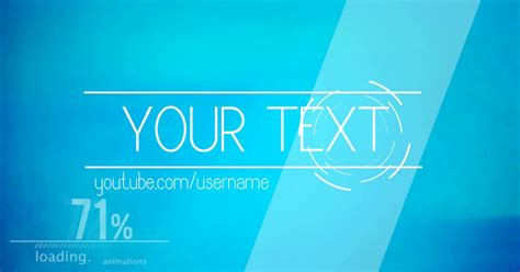 Simple Intro Template Simple Blue 2d Youtube Svp Intro Template Intro Template 2 Aniket