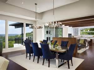 Modern Luxury Dining Room Interior Design With Navy Blue