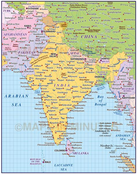 Map A4 Bunga Eiffel 10 vector india country map 10m scale in illustrator and pdf