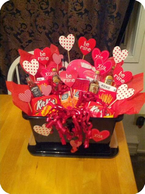 valentines baskets for him a s basket for him create your own custom gift