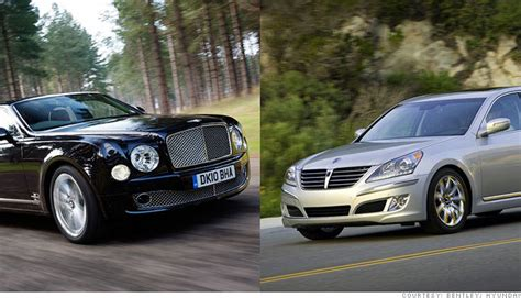 bentley hyundai luxury battle bentley vs hyundai outragously expensive