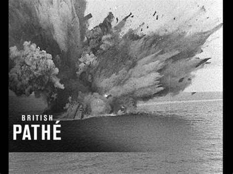 Hms Barham Sinking by Historic Footage Shows The Sinking Of Hms Barham The