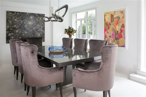 Modern Dining Room Wall Mirror Contemporary Upholstery Fabric Dining Room With Painted