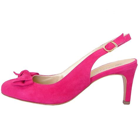 pink mid heel sandals kaiser berny sling back mid heel shoes in pink