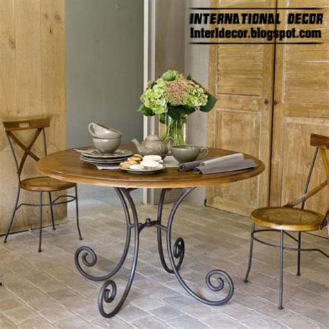 wrought iron dining room furniture wrought iron and wood furniture furniture design ideas