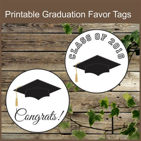 printable graduation stickers graduation printable favor tags class of 2016 favor stickers