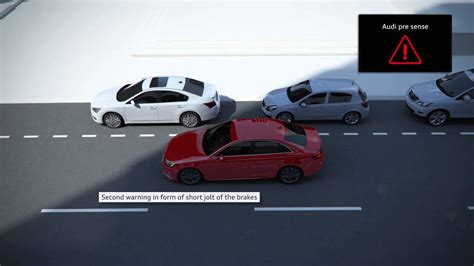 Audi Pre Sense Plus by Audi A4 New 2015 Pre Sense City Animation Youtube