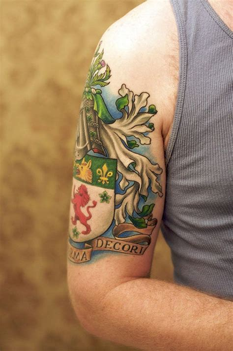 family crest tattoos for men family crest idea ideas