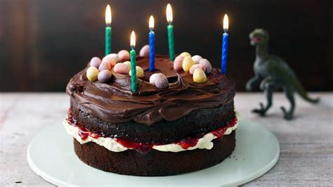 easy chocolate birthday cake recipe bbc food