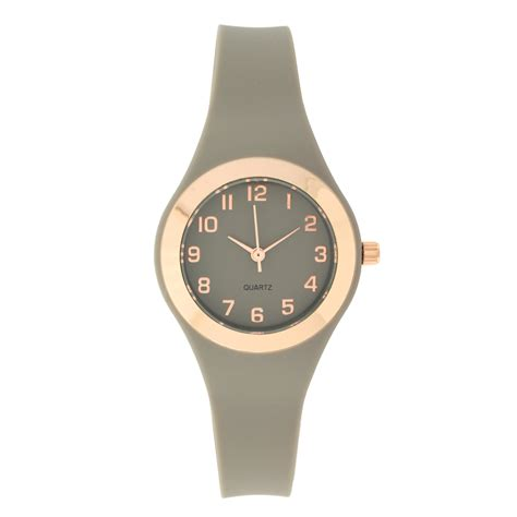grey rubber jewelry watches