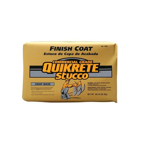 quikrete 80 lb stucco finish coat gray 120280 the