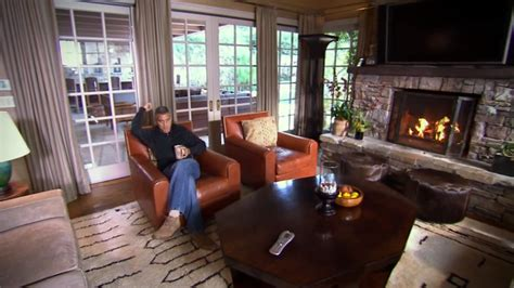 george clooney house george clooney gives us a tour inside his sprawling l a home business insider