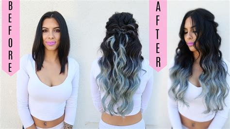 how to cut blend hair extensions