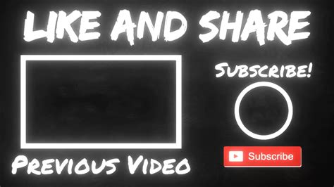 Youtube Video End Screen Template Youtube End Screen Template