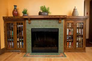 Classic arts amp crafts fireplace craftsman living room