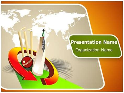 cricket themes for powerpoint 2007 world cricket powerpoint template background