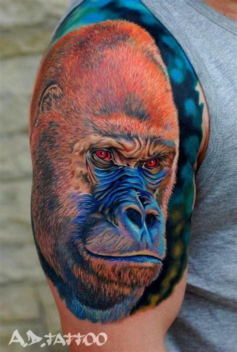 tattoo real animal 23 best gorilla tattoos images on pinterest gorilla
