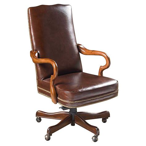 wood and leather desk chair leather wood desk chairs office furniture