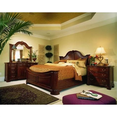 mansion bedroom furniture sets american drew cherry grove mansion wood panel bed 5 piece