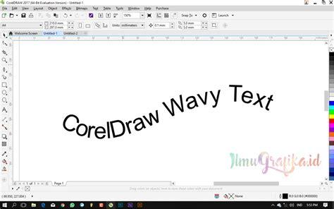 video tutorial coreldraw dasar tutorial coreldraw dasar membuat teks melengkung dengan
